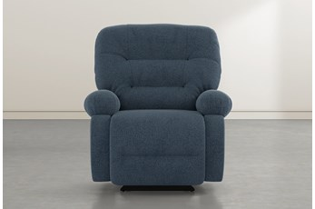 Decker III Denim Power Rocker Recliner