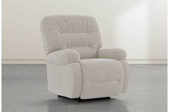 Decker III Linen Power Rocker Recliner