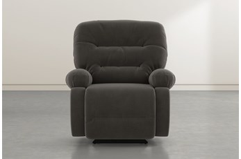 Decker III Dark Grey Power Rocker Recliner