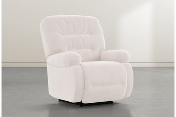 Decker III Ivory Power Rocker Recliner