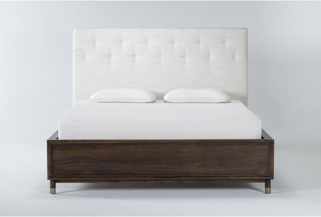 Brighton Queen Upholstered Platform Bed By Nate Berkus And Jeremiah Brent - 360