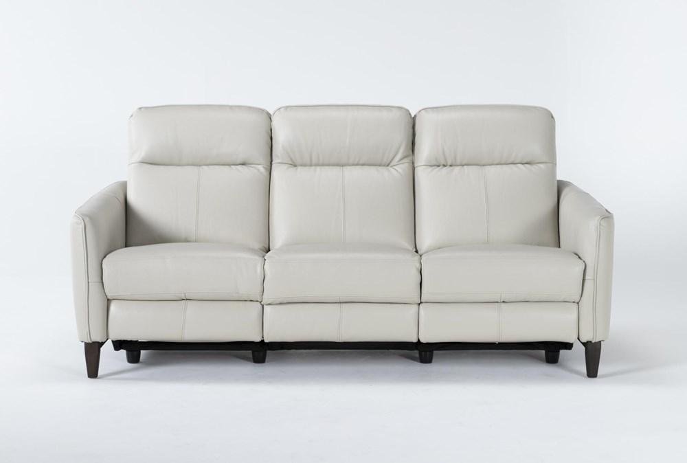 "Belinda Leather 36"" Power Reclining Sofa"