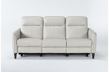 "Belinda Leather 36"" Power Reclining Sofa"