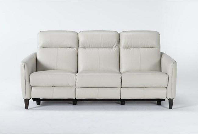 "Belinda Leather 36"" Power Reclining Sofa - 360"