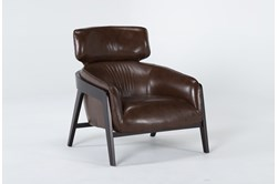 Denzel Leather Accent Chair