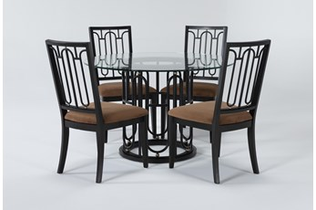 Palais 5 Piece Round Dining Set By Nate Berkus and Jeremiah Brent
