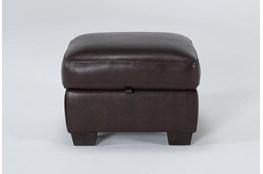 Bacchus Leather Storage Ottoman