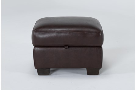 Bacchus Leather Storage Ottoman - Main