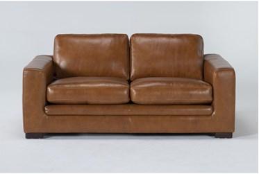 """Mason Leather 76"""" Loveseat"""