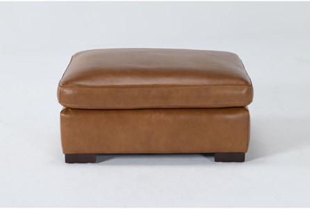 Mason Leather Ottoman - Main