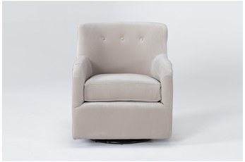 Katrina Velvet Dove Swivel Glider Chair