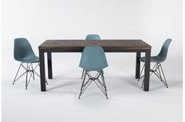 Gabe 5 Piece Dining Set With Alexa Reef Chairs