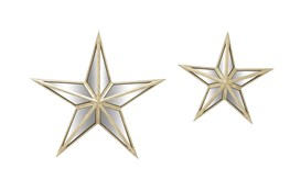 3D Mirror Wall Star-Set Of 2