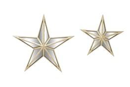 3D Mirror Wall Star-Set Of 2