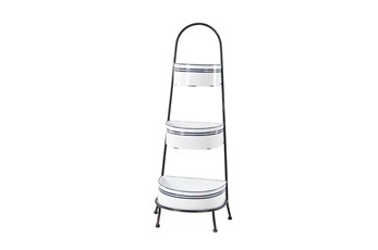 3 Tier White Kitchen Metal Display Rack