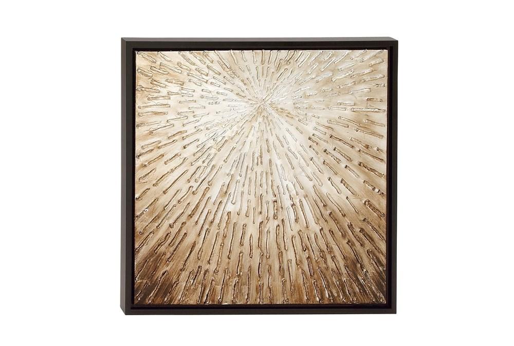 Dark Brown Framed Canvas Wall Art