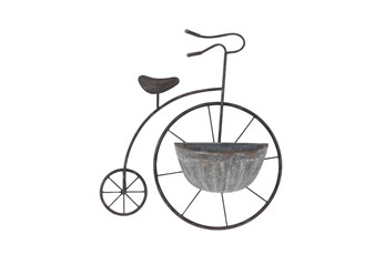 Metal Tricycle Wall Planter