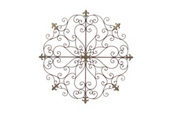 Round Brown Metal Medallion Wall Decor