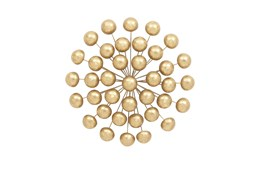 Round Gold 3D Metal Wall Decor