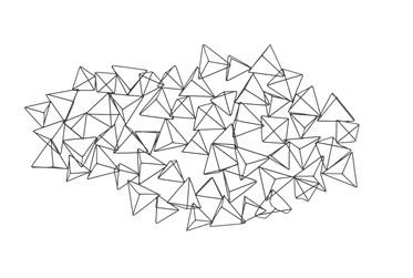 Black Metal Triangles Wall Decor