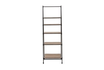 5-Tier Wood And Metal Ladder Bookcase