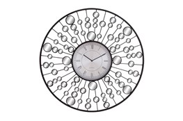 Round Mirror And Metal Wall Clock