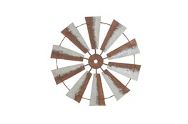 Metal Farm Windmill Outdoor Wall Decor