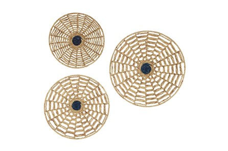 Brown Seagrass Wall Art-Set Of 3 - Main