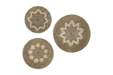 Natural Brown Seagrss Wall Art-Set Of 3 - Main