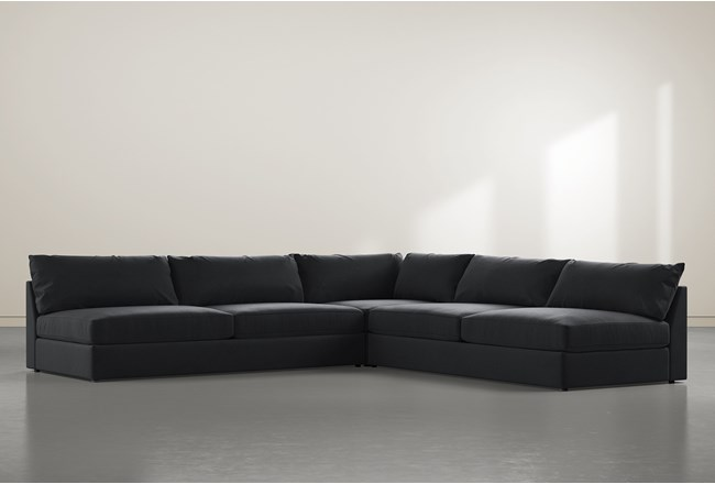 """Marcel 3 Piece 122"""" Sectional By Nate Berkus And Jeremiah Brent - 360"""