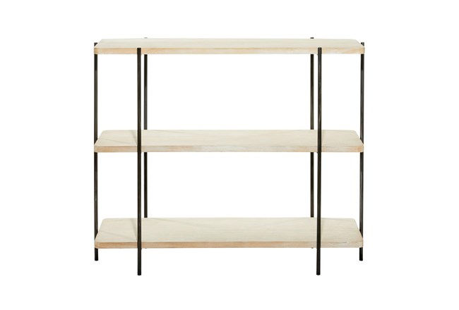 Wood And Metal Console Table - 360