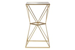 Gold And Glass Faceted Accent Side Table