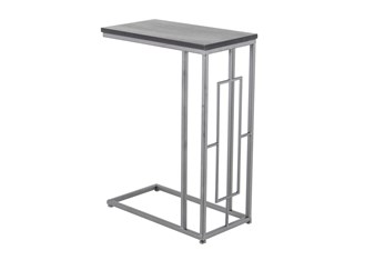 Grey Wood And Metal C Table
