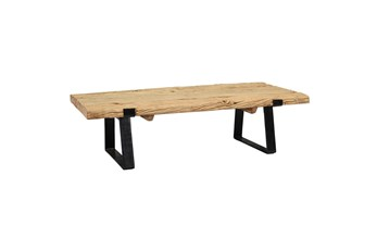 Rectangular Reclaimed Wood And Iron Coffee Table