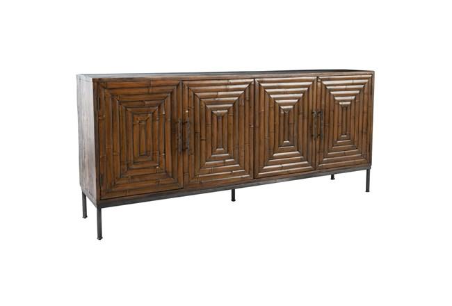 "Bamboo Panel 4 Door 80"" Sideboard - 360"