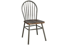 Reclaimed Wood And Metal Windsor Dining Chair