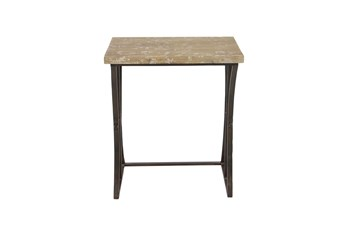 Fir Wood And Iron Rectangular Nesting Tables-Set Of 3