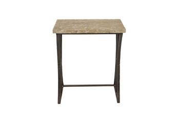 Fir Wood And Iron Rectangular Nesting Tables-Set Of 3