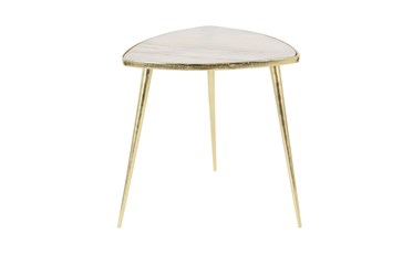 Gold Marble Triangle Accent Table