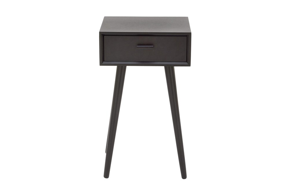 One-Drawer Black Accent Table