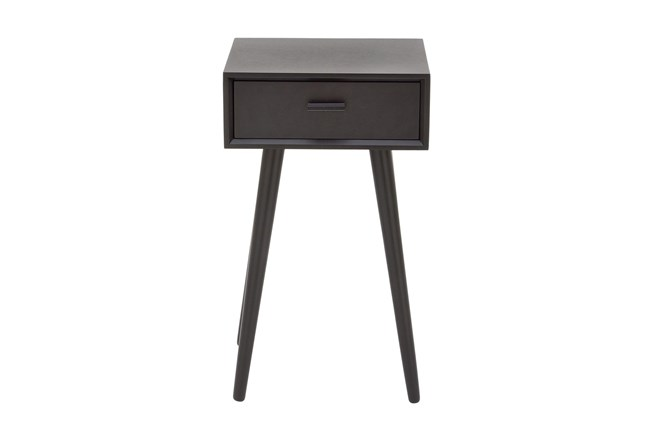 One-Drawer Black Accent Table - 360