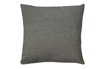 24X24 Curious Silverpine Gray Throw Pillow