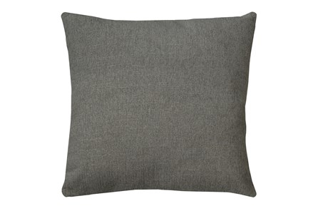 24X24 Curious Silverpine Gray Throw Pillow - Main