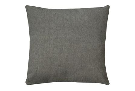 24X24 Curious Silverpine Gray Throw Pillow - Main