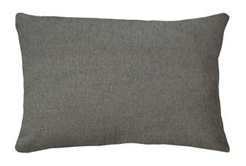 14X20 Curious Silverpine Gray Throw Pillow