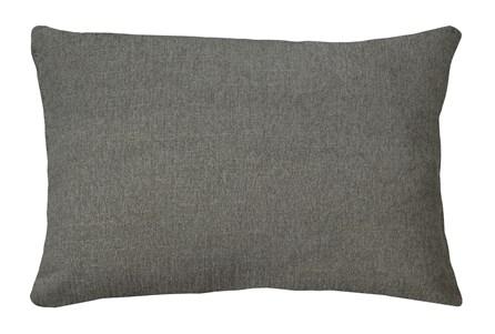 14X20 Curious Silverpine Gray Throw Pillow - Main