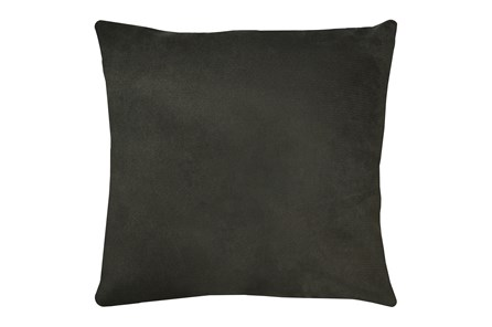 24X24 Geo Raven Brown Gray Throw Pillow - Main
