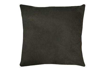 24X24 Geo Raven Brown Gray Throw Pillow - Main