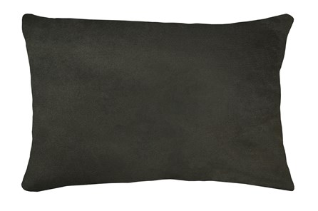 14X20 Geo Raven Brown Gray Throw Pillow - Main