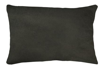 14X20 Geo Raven Brown Gray Throw Pillow - Main